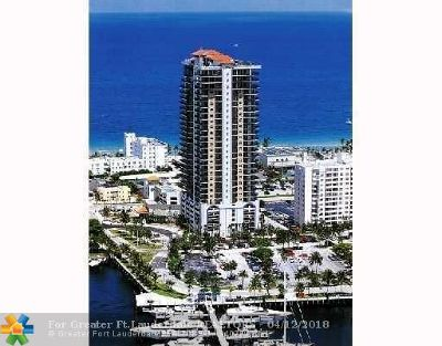 Fort Lauderdale Condo/Townhouse For Sale: 100 S Birch Rd #1806