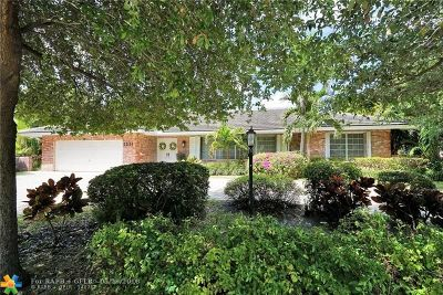 Fort Lauderdale Single Family Home For Sale: 2531 NE 40th St