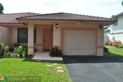 Coral Springs Single Family Home For Sale: 12050 NW 33rd St