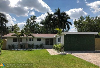 Wilton Manors Single Family Home For Sale: 648 NW 21st St