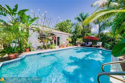 Oakland Park Single Family Home For Sale: 1596 NE 35th St