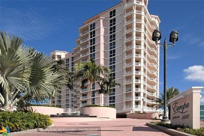 Broward County Condo/Townhouse For Sale: 1460 S Ocean Blvd #901