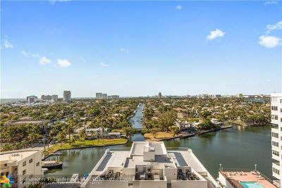 Fort Lauderdale Condo/Townhouse For Sale: 340 Sunset Dr #1505