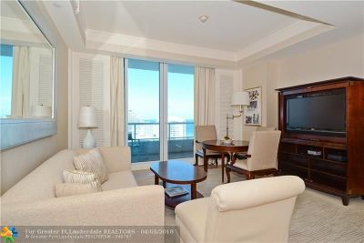 Fort Lauderdale Condo/Townhouse For Sale: 1 N Ft Lauderdale Bch Bl #1702