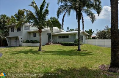 Lighthouse Point Single Family Home For Sale: 2660 NE 27th St