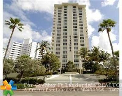 Fort Lauderdale Condo/Townhouse For Sale: 3550 Galt Ocean Dr #1706