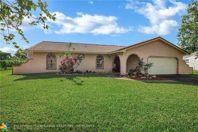 Coral Springs Single Family Home For Sale: 11120 NW 39th Ct