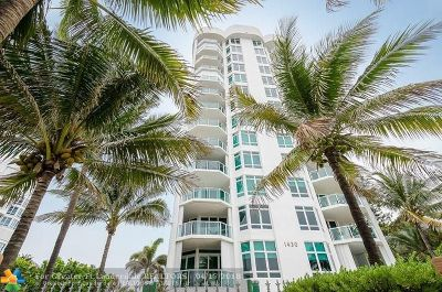 Pompano Beach Condo/Townhouse For Sale: 1430 S Ocean Blvd #8B