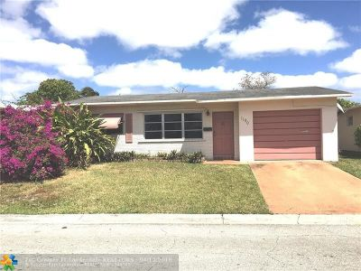 Margate Single Family Home For Sale: 1190 NW 66th Ter