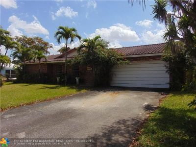 Coral Springs Single Family Home Backup Contract-Call LA: 10640 NW 38th St