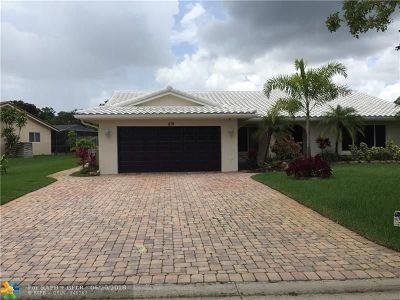 Coral Springs Single Family Home For Sale: 279 NW 89th Ave