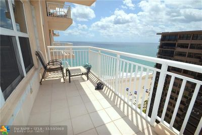 Fort Lauderdale Condo/Townhouse For Sale: 3850 Galt Ocean Dr #1603