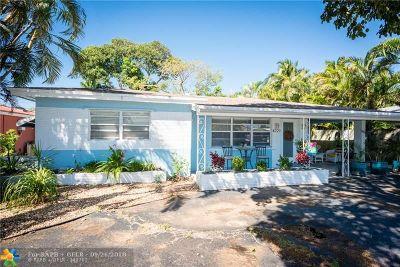 Oakland Park Single Family Home For Sale: 4721 NE 4th Ave