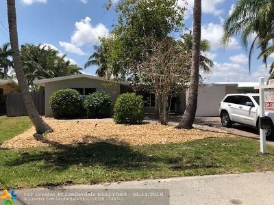 Fort Lauderdale Single Family Home For Sale: 2549 Flamingo Lane