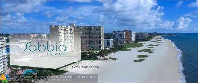 Pompano Beach Condo/Townhouse For Sale: 730 N Ocean Blvd #904
