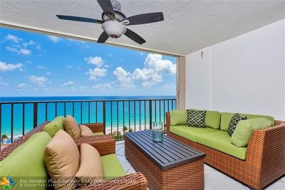 Fort Lauderdale Condo/Townhouse For Sale: 1905 N Ocean Blvd #14B