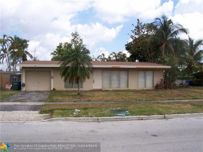 Margate Single Family Home For Sale: 6115 NW 20th Ct
