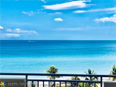 Hallandale Condo/Townhouse For Sale: 3180 S Ocean Dr #616