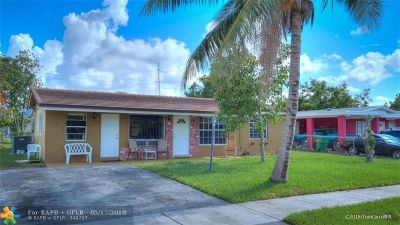 Lauderhill Single Family Home Backup Contract-Call LA: 3271 NW 15th St