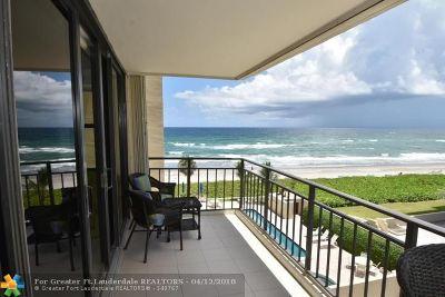 Highland Beach Condo/Townhouse For Sale: 3009 S Ocean Blvd #405