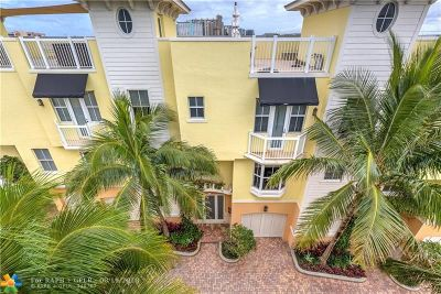 Lauderdale By The Sea Condo/Townhouse For Sale: 4332 Sea Grape Dr #8