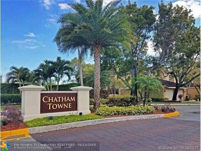 Plantation Condo/Townhouse For Sale: 9850 NW 1st Ct #9850