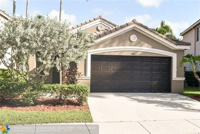 Weston Single Family Home For Sale: 818 Golden Cane Dr
