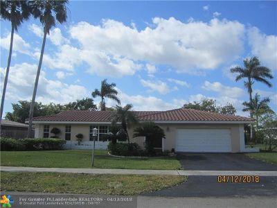 Plantation Single Family Home For Sale: 7360 SW 10 Street