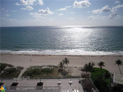 Pompano Beach Condo/Townhouse For Sale: 1390 S Ocean Blvd #11-F