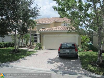Coral Springs Single Family Home For Sale: 5449 NW 121st Ave