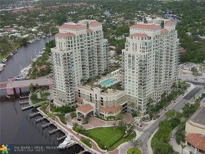 Fort Lauderdale Condo/Townhouse For Sale: 610 W Las Olas Bl #1511N