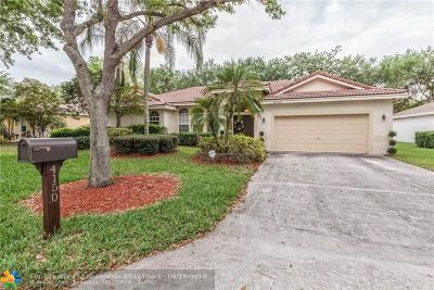 Coconut Creek Single Family Home For Sale: 4150 NW 58th St