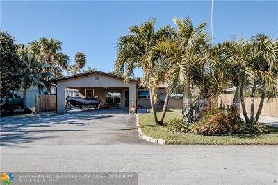 Oakland Park Single Family Home For Sale: 645 NE 34th St