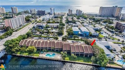 Pompano Beach Condo/Townhouse For Sale: 1301 N Riverside Dr #1