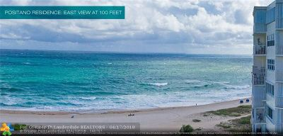 Pompano Beach Condo/Townhouse For Sale: 730 N Ocean Blvd #1005