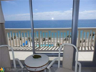 Fort Lauderdale Condo/Townhouse For Sale: 4300 N Ocean Blvd #10A