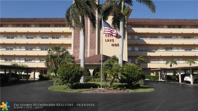 Pompano Beach Condo/Townhouse For Sale: 4100 Crystal Lake Dr #311