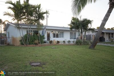 Pompano Beach Single Family Home For Sale: 2879 NE 14th Ave