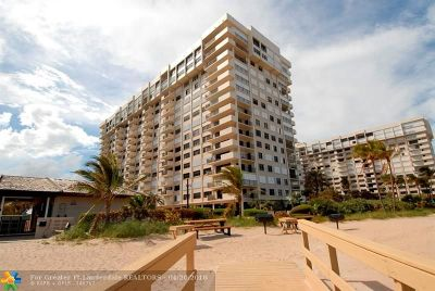 Lauderdale By The Sea Condo/Townhouse For Sale: 5000 N Ocean Blvd #1508