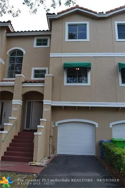 Sunrise Condo/Townhouse For Sale: 1426 NW 126th Way #126