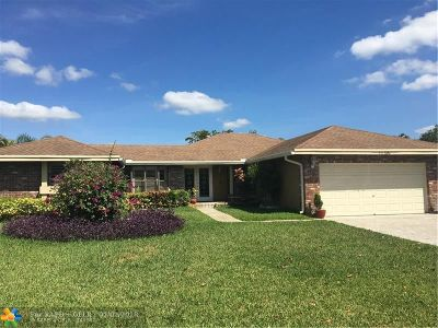 Coral Springs Single Family Home For Sale: 11295 NW 43rd Pl