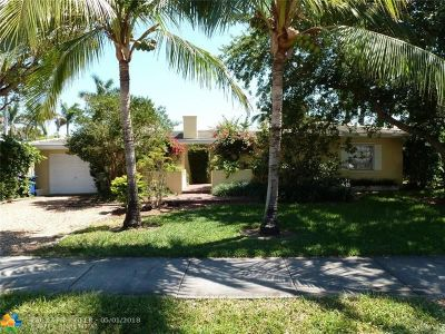 Fort Lauderdale Single Family Home For Sale: 1610 Middle River Dr