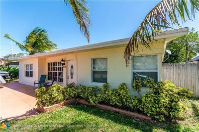 Pompano Beach Single Family Home For Sale: 3160 NE 11th Ave