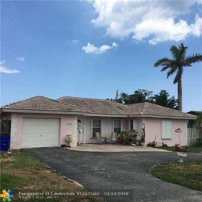Deerfield Beach Single Family Home Backup Contract-Call LA: 510 SE 17th Ave