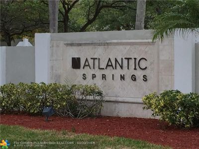 Coral Springs Condo/Townhouse For Sale: 11295 W Atlantic Bl #301
