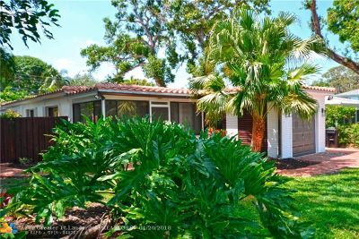 Fort Lauderdale Single Family Home For Sale: 1114 SW 19th St