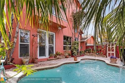 Fort Lauderdale Single Family Home For Sale: 1241 Cordova Rd