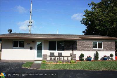 Oakland Park Single Family Home For Sale: 4881 NE 13th Ave