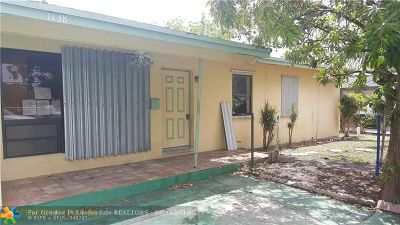 Fort Lauderdale Single Family Home For Sale: 1138 NW 9th Ter