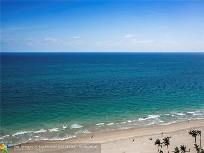Fort Lauderdale Condo/Townhouse For Sale: 4300 N Ocean Blvd #9M